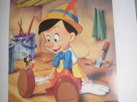 Pinnochio (unframed), Snow White (unframed), Beauty and