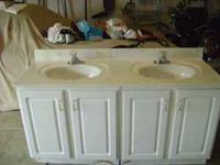 5' Double bowl vanity with cultured marble countertop