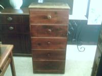 I HAVE A REALLY NICE 5 DRAWER CHEST STAINED MAHOGANY