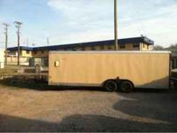 For sale are several used enclosed trailers. Ramp and