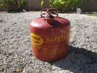 Good condition metal gas can.  search my phone number