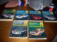 ive got 5 haynes car repair manual books ...subaru