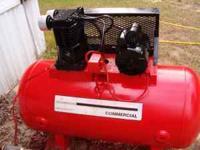 sanborn commercial duty 5 hp air compressor works great