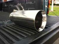 Silverline polished 304 stainless steel exhaust tip. 4