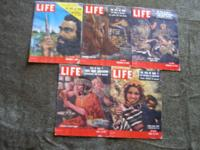 "5 issues of LIFE magazine feature ""THE EPIC OF MAN"", a"