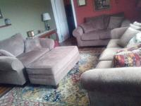 Beautiful Contemporary Living Space Set, Couch, 2