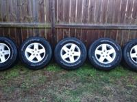 Factory take off of alloy wheels. 4 used tires & brand