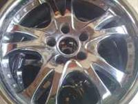 5 lug rims! Chrome! Pattern: 5x114.3 All 4 look great!