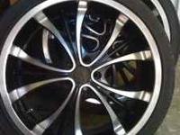 "Have a set of 20"" forte racing rims. They ate black and"