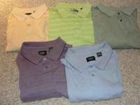 5 Mens casual shirts size XXL. All are in Great used