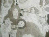 MICHAEL JACKSON POSTERS!!!! HAND DRAWN THE WEEK THAT HE