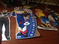 LOT OF 6 FULL LIFE SIZE STANDUP CARDBOARD NASCAR CUT