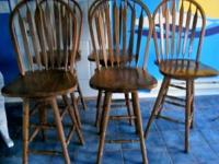 I have 5 Oak beautiful bar stools in excellent