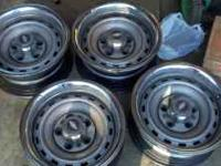 i am selling chevy truck rims old school rallys, with