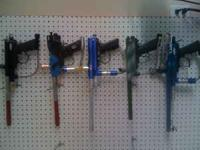 I have 5 paint ball guns for sale. All work good we