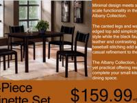 5 PC DINETTE SET BRAND NEW AND IN STOCK $159.99+T