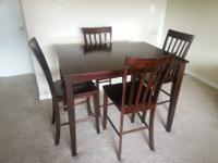 "1 36""W x 48""D x 36""H Table 4 Tall-back Chairs + 1 Bonus"