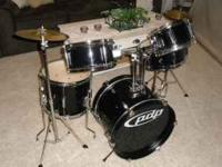 For sale is a 5 piece Jr. drum set for $150.00 or best