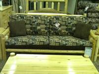 Log sofa, 2 end table, coffee table, and 2 lamps