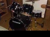 We are selling an almost new set of Ludwig drums and