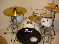 I have a 5 piece pearl exr drum set for salel, with