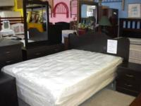 Set includes headboard,night stand,dresser,mirror and