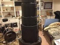5 Piece SKB Hard Drum Cases  Sizes:. 18x22 inch bass