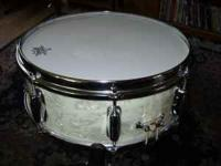 5 Vintage White Marine Pearl Maple Slingerland Drums in