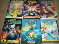 Hello. I own the following Pokemon movies on VHS, ALL