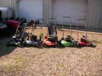 i have 5 pushmowers for sale ranging from $30 to $45