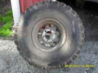 ridge runner tires, 35x15, 6 hole chevy, 75% tread