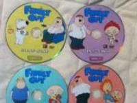 Here I have 5 of the seasons for Family Guy, they are
