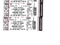Section 107, Row J, Seats 5-6-7. I bought these tickets