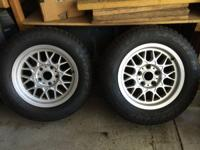"A pair of near exceptional condition BMW 15"" BBS Alloys"