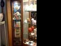 5 shelf display case with light asking $65.00 if