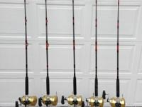 Type:SportsType:FishingAll 5 Rods and reels are in