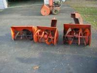 "5 snow blower front end / buckets ariens older 24"","