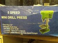 Sheps Wholesale has a 5 speed Mini Drill Press brand