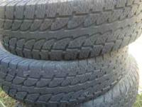 I have 4 Nokian p245/75/r16 tires for sale. I bought