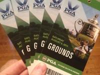 5 Grounds Tickets for Saturday at the 2014 PGA