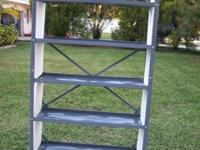 5-Tier Steel Shelving system for storage. Like