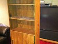 This Is A 6ft Tall Bookcase That Wooden And Has 3