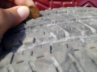 5 Used tires for sale  May not pass inspection  but