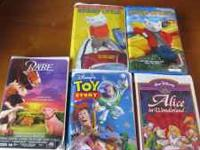 ALL VHS TAPES IN GOOD WORKING CONDITION, ALL IN CASES.
