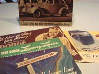 THESE BROCHURES ARE FOR YEARS 1937, 1938, 1939, 1941