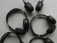 (5) WIRELESS CAR HEADPHONES. VERY LIGHTWEIGHT AND