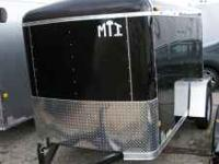 This Black Cargo Trailer is new with new Tires and