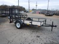 2013 BIG TEX 5' X 10' SINGLE AXLE UTILITY TRAILER WITH