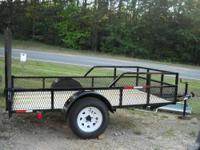 5 x 10 Slammer Trailer 1- tubing tongue and top rails