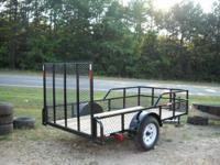 "5 x 10 ""Slammer"" Utility Trailer tubing tongue with"